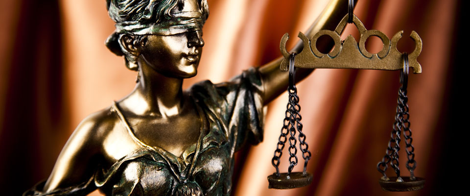 Justice with legal scales